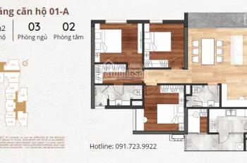 Mở bán căn 1A - 117.9m2 cửa Đông Nam, BC Tây Nam và Tây Bắc. Cam kết giá bán rẻ nhất thị trường