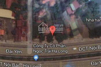 Bán đất mặt đường QL 18A đối diện cổng Tuần Châu, DT 700m2 đất xây dựng 450m2, LH 0985490188