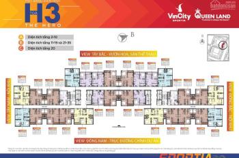 Bán nhanh căn góc 3PN 8 dự án Vinhomes Smart City, giá chỉ 2,63 tỷ