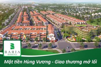 Bán đất TT TP Bà Rịa mặt tiền đường Hùng Vương. Liên hệ 0937.140.351