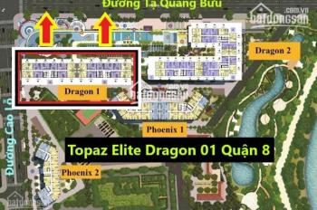 Giá tốt nhất căn hộ Quận 8 Topaz Elite Dragon 01, DT 78m2 chênh chỉ 290tr view hồ bơi LH 0901584485