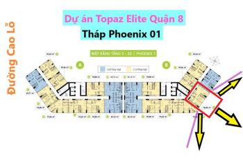 Chính chủ dự án Topaz Elite Phoenix 1, Quận 8 DT 78m2 mã căn 09 block B chênh 480tr, LH 0901584485