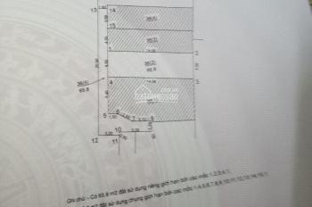 Bán đất thôn Trùng Quán, xã Yên Thường, H. Gia Lâm, TP Hà Nội, diện tích 65.8m2, vuông vắn, MT 4.5m