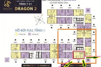 Dự án Topaz Elite Dragon 2 CH Q8 DT 91,64m2 view mát chênh chỉ 280tr tầng trung 20x. LH 0901584485