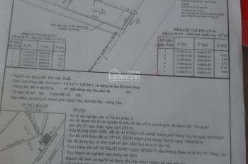 Cần bán đất mặt tiền đường Nguyễn Thị Minh Khai hướng đông nam phường 8 thành phố Vũng Tàu