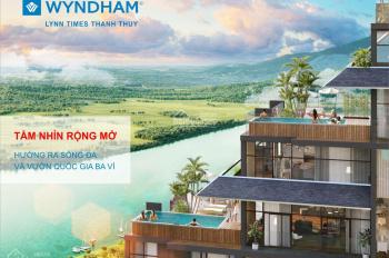 Bán CH condotel Wyndham Lynn Times Thanh Thủy, cam kết lợi nhuận 12%/năm/5 năm đầu, LH 0912779666