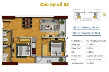 Căn hộ thương mại 63.6m2 - 2PN - 2WC - Gía 1,05 tỷ - nhận nhà ngay - hỗ trợ vay 70% LH 0826272323