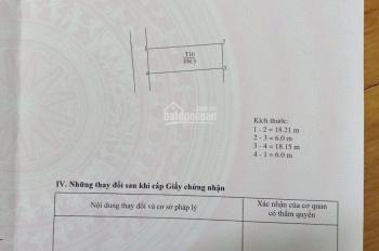 Bán đất đấu giá ở sát trường cấp 1 Yên Thường, diện tích: 108,5m2, rộng: 6m, dài: 18m