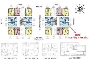 Bán căn 12 71.6m2 tầng 9 tháp B HC Golden City 2,9 tỷ, LH 0813.666.111