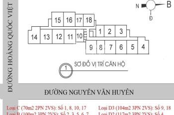 Bán gấp CHCC 60 Hoàng Quốc Việt, căn 18 - 06, 100m2, 3PN, giá bán 31tr/m2. LH: 0984 486 179