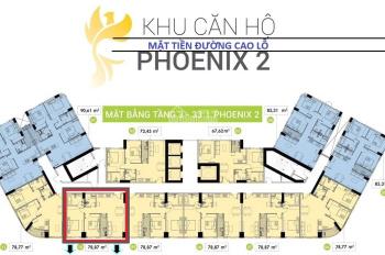 Chung cư quận 8 dự án Topaz Elite Phoenix 2 DT 78m2 2PN giá 2tỷ283 VAT tầng trung 20. LH 0901584485
