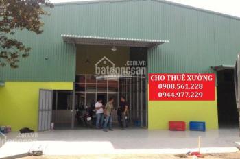 Cho thuê nhà xưởng phường An Phú Đông, quận 12, DT: 1000m2, giá 40 triệu/tháng. LH: 0937.388.709