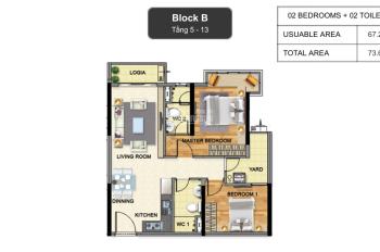 Chính chủ bán căn góc 2PN 73.6m2 block B khu Emerald dự án Celadon City LH. 0964435529 Mr Bảo 24/24