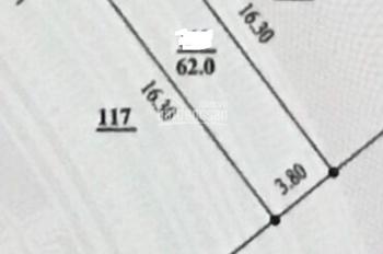 Bán đất phân lô ngõ Bà Triệu, Hà Đông, Hà Nội. DT 62m2, giá 4.4 tỷ, LHCC: 0961766683