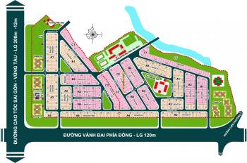 Bán lô 119m2 đường thông chung cư Sky 9 - Hausneo công ty Hoàng Quân giá 38tr/m2, LH: 0909.797.786