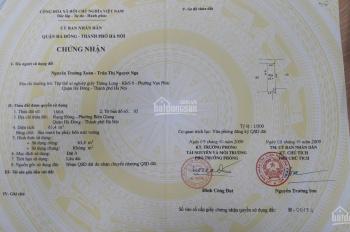Bán đất tặng nhà cấp 4 Phường Biên Giang - Hà Đông - Hà Nội