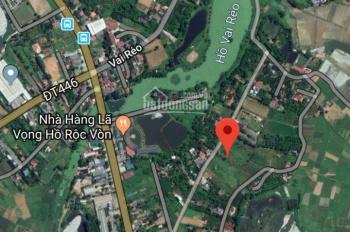 Vợ chồng tôi cần bán lô đất Phú Cát, Quốc Oai với giá 9tr/m2, lô đất có diện tích 100m2 hướng ĐB
