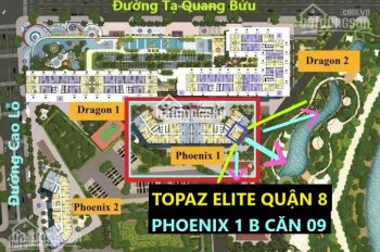 Chính chủ bán chung cư Q8 dự án Topaz Elite nhận nhà cuối năm DT 78.88m2 giá 2tỷ380. LH 0901584485