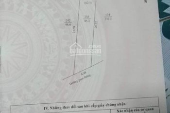 Bán đất thổ cư hai mặt tiền phường Cẩm Thượng