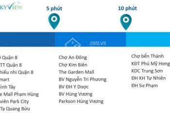 Chính chủ cần bán nhanh căn hộ Sài Gòn Skyview, quận 8, DT 62m2. LH: 0932115068