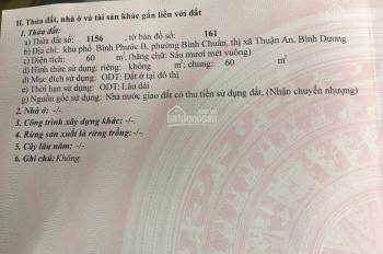 Bán đất chính chủ KP Bình Phước B, Bình Chuẩn, Thuận An, Bình Dương