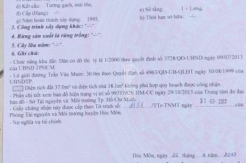 Nhà mặt tiền Trần Văn Mười kinh doanh buôn bán mọi ngành nghề DT 4x30m, công nhận 105m2
