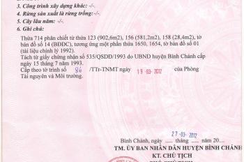Bán đất chính chủ 1512m2 tại Đường Cây Bàng, Xã Tân Kiên, Bình Chánh, TP. Hồ Chí Minh