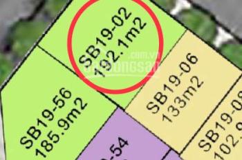 Bán căn SB19 - 02 đơn lập, DT 192,2m2, hướng ĐB, giá 14 tỷ, LH 0989305682, nhà XD 3 tầng 1 tum