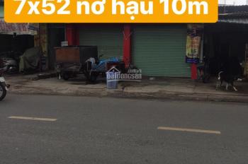 Nhà MT Ung Văn Khiêm: 7x52m mặt bằng trống nở hậu 10m, giá 48tr/th. DT: 7x52m nở hậu 10x52m
