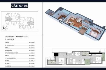 Bán CH 2PN 48m2, giá gốc chỉ 935tr, nhận nhà ở ngay cạnh Vincom Long Biên. LH: 0948.77.23.66