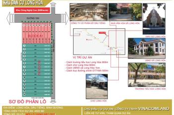 Bán đất ở khu đô thị Long Hòa, Bình Dương, sổ hồng riêng, ngân hàng hỗ trợ vay 60%