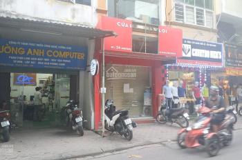 Chính chủ cho thuê tầng 1 nhà mặt phố số 24 đầu phố Khương Trung, kinh doanh, 70m2