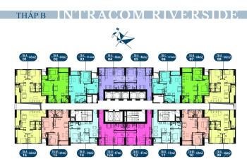 Anh Vịnh bán căn hộ Intracom tầng 2215, DT 65m2, view sông Hồng, giá 21tr/m2. LH 0961436488