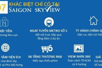Chính chủ bán nhanh căn Saigon Skyview quận 8, 62m2 chênh lệch thấp