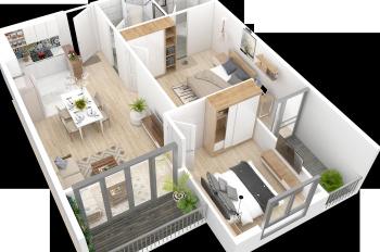 Bán căn hộ 2712A, 2524, 2522 DA Samsora 2-3 PN từ 70,03 m2 rất đẹp