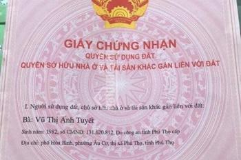Bán nhà 2 mặt tiền đẹp nhất Phú Thọ