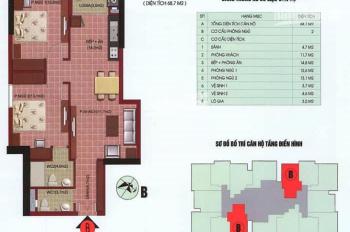 Bán chung cư 69m2 tại tòa nhà SDU 143 Trần Phú, Hà Đông