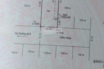 Bán lô đất đường số 8, P. Linh Đông, Tam Bình, Thủ Đức (3,3 tỷ)