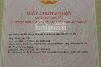 Bán đất SĐCC 47m2 phố Thanh Lân, Hoàng Mai, Hà nội
