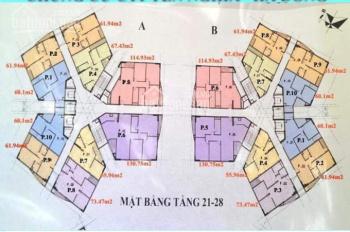 Tôi Cần bán căn hộ chung cư CT1B Yên Nghĩa, căn tầng 1610, DT 61,9m2, giá 13tr/m2: 0901.798.296