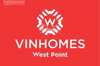 Chỉ với 770tr nhận ngay chung cư 3PN Vinhomes West Point diện tích 92,7m2, lãi suất 0% cho 65%