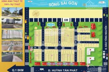 Đất nền đã có sổ The Sun Residence - Nhà Bè, chỉ 599tr/nền, ngân hàng cho vay 70%, LH: 0907896678