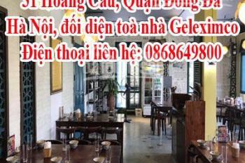 sang nhượng nhà hàng gấp - 31 Hoàng Cầu, Quận Đống Đa - Hà Nội, đối diện toà nhà Geleximco
