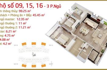 Bán căn 3 phòng ngủ, 103m2, Imperia Sky Garden, ban công Đông Nam, full nội thất, 3.7 tỷ