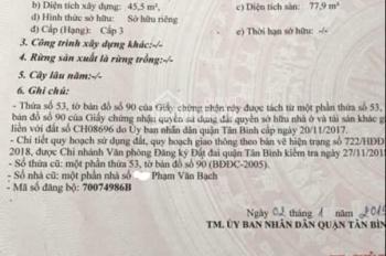 Mặt tiền Phạm Văn Bạch.p15 Tân bình. 3.5x14 mặt tiền rộng 23m không lộ giới.7ty9