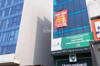 Cho thuê sàn văn phòng ngay tòa Vietcombank khu vực Yên Lãng, Thái Hà.