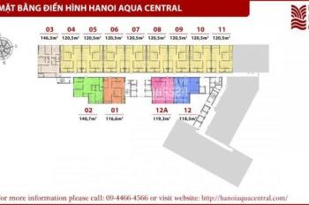 Bán căn 04,05 và 06 - A2 chung cư cao cấp 44 Yên Phụ thuộc dự án Hà Nội Aqua Central - 0904717878