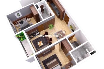 Cho thuê căn hộ 1 phòng ngủ view bể bơi giữa 2 tòa. LH 0901775583