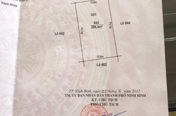 Đất chính chủ cần bán đất ở thuộc khu Quảng Trường 2, TP. Ninh Bình diện tích 296,4m2, hướng Bắc