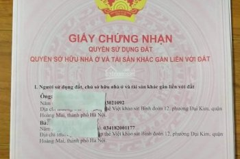 Chính chủ cần bán 250m đất ở tại Vân Côn, Hoài Đức, Hà Nội. LH :0338253161.